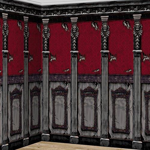 2,4 x 6,0 Meter WANDDEKO - SPUKSCHLOSS - + eine Parkscheibe