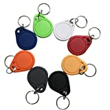 YARONGTECH Badge RFID 13.56Mhz imperméable ABS ISO14443A 1K RFID Porte-clefs (Paquet de 10)