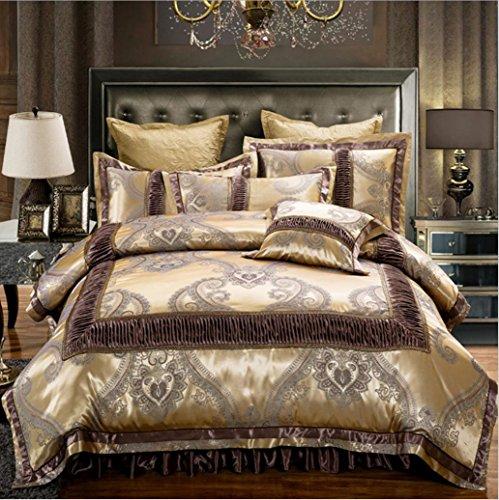 panpan Bettbezug Jacquard Baumwolle abnehmbare Bett Rock Abschnitt Bedclothes Vier/sechs Stück Königin König, 7, 1.8m Bed six Pieces - 7 Stück Jacquard-bett