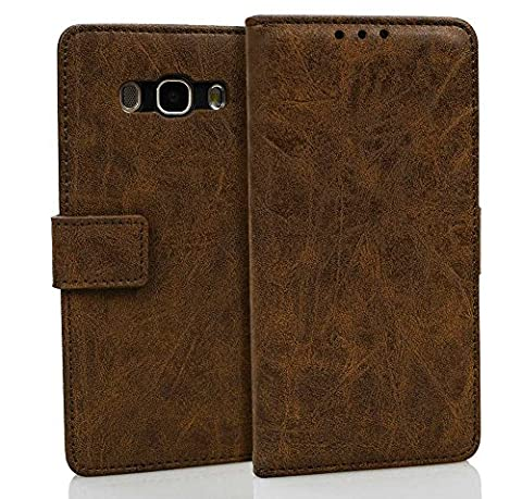 Galaxy A7 2017 Case, Samsung A720 Leather Case, Samsung Galaxy A7 (2017) A720 Wallet Case, BONROY Premium Samsung Galaxy A7 (2017) A720 Case Vintage Genuine Leather Flip Stand Wallet Cover With Cash / Card Slots Protective Case for Samsung Galaxy A7 (2017) A720 - Dark