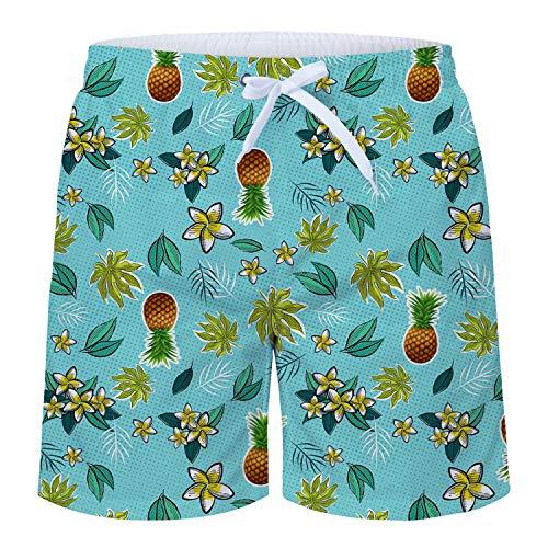8bc8c382670 TUONROAD Bañadores para Hombre Impresión 3D Piña Floral Bañador de Natación  Pantalones Cortos Secado Rápido Traje