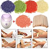 #1: SWEET PEA Hair Removal Hard Wax Beans (2 Packets of Weight 100g) with WAX HEATER MACHINE + Wax applicator stick.