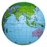 #6: Forberesten Kids Inflatable World Map Early Educational Toys Beach Ball