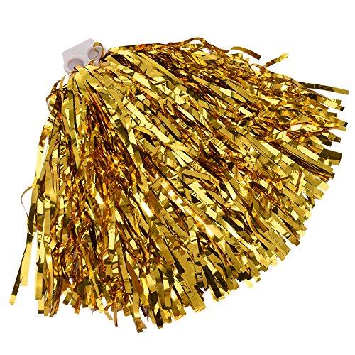 twinkbling Cheerleading Pom Poms Dance Party Kostüm Sport Cheerleader Flower Ball mit Kunststoff Griff, ()