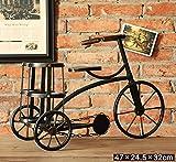 Racks Y weingestell Rotwein-Zahnstangen Weinlese-Weinlese-Fahrrad-Weinlese-Behälter bilden Das alte Stab-Café-Schreibtisch-Dekoration-Dekoration-Rotwein-Zahnstange Weinregale (Farbe : B)