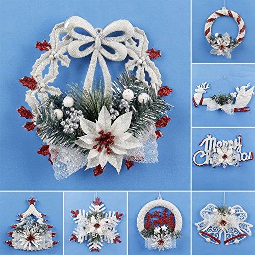 Global Brands Online Ornamento del Copo de Nieve del árbol de Navidad Decoración Colgante de la Puerta de la Pared Decoración casera de la Fiesta de Navidad
