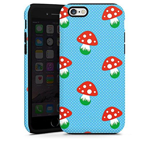 Apple iPhone 5s Housse Étui Protection Coque Champignon Amanite tue-mouches Fête de la bière Cas Tough terne