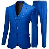 Men's Royal Blue Groom Tuxedos 3 PC Men Suits 2 Buttons Wedding Suits for Men
