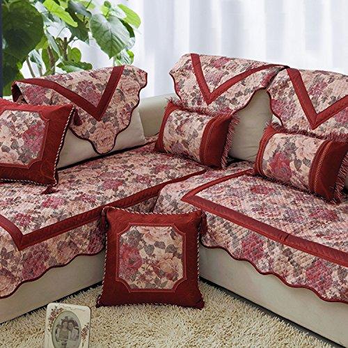 MZMZ-in stile Europeo a cuscino per divani in tessuto di lusso di moda divano in pelle cuscino di sabbia di slittamento capelli,55*55cm,abbraccio federa - Loving Abbraccio