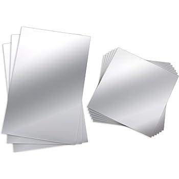 Bbto 9 st ck spiegelbl tter flexibler nicht glas spiegel for Spiegel fliesen 30x30