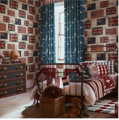 Wandbild Retro Britische Flagge Englisch Brief Reines Papier Tapete Wohnzimmer Schlafzimmer Kinderzimmer Hintergrund Wallpaper Wallpaper 3D Wandbild 350x250cm -