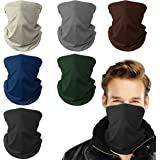 Mohigher Face Coverings, 6 Pack Multifunctional Headwear Bandana Face Mask, Breathable Tube Snoods for Men, Washable Neck Gai