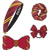 Harry Potter Ensemble D'accessoires Cheveux, Design Gryffondor , Un Serre-Tête, Un Chouchou, Un Noeud Et Un Lien De…