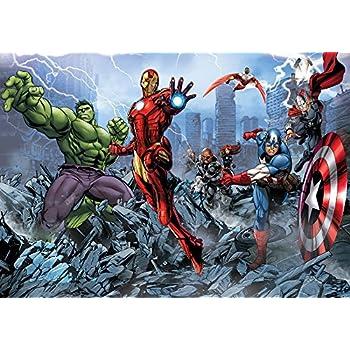 Marvel Avengers Papier Peint Décor Forwall Af960ve Xxl 312cm X