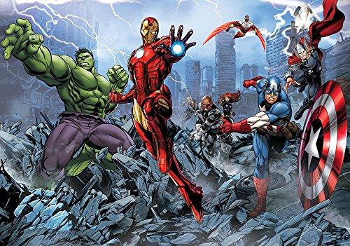 (Olimpia Design Fototapete Photomural Marvel Avengers, 1 Stück, 960P4)