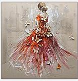 DAMENGXIANG DIY Diamant Malerei Mädchen Hochzeit Kleid Schmetterling Kreuzstich Bohrer 5D Bohrmaschine Hand Gelegt Diamant Malerei Wasser Bohren Stickerei Dekoration 30 × 30Cm