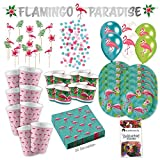 Amscan Pink Flamingo Tropical Party Partybox 73-Teilig Flamingoparty Partypaket
