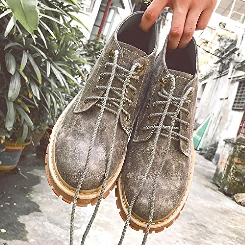 HL-PYL-Martin zapatos, botas, botas cortas nuevas y viejas botas,42,gris