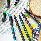 6 pcs Lumina stylos fluorescent Surligneur pour copie papier dessin au fax Marqueur stylo Papeterie Matériel de bureau Fournitures scolaires A6718
