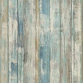Papel pintado autoadhesivo Azul madera vinilos de pared decorativo papel adhesivo para muebles 30cmX2m PVC impermeable vinilo para muebles Película para sala de estar Dormitorio Armarios