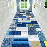 LYDB Corridoio Corridore Tappeto Moquette Antiscivolo Assorbimento di umidità Antibatterico Antipolvere Lavabile, Personalizzato, con Altezza 7mm (Colore: A, Dimensioni: 1,2x5m)