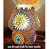 [Sponsored]TiedRibbons® Multicolour Mosaic Style Dome Shaped Glass Table Lamp For Gift & Home Décor | Decorative Lights For Festival | Diwali Gifts For Friends | Gifts On Diwali | Corporate Gifts For Staff