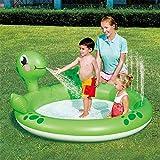SUWIN Turtle Play Aufblasbares Planschbecken, Sommerkinderballbecken, rundes Schwimmbecken,...