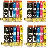 Global Toners Combo Pack-20XL (4jeux) compatible Epson 26X L cartouches d'encre pour Expression Premium XP-510, xp-520, XP-600, XP-605, XP-610, XP-615, XP-620, xp-625, XP-700, XP-710, XP-800  haute capacité-Combo Pack