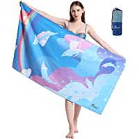 Jmqys Mikrofaser Strandtuch Handtücher Schnelltrocknend-Ultra Leicht Sandfreies Damen Mädchen Tragbares XXL…