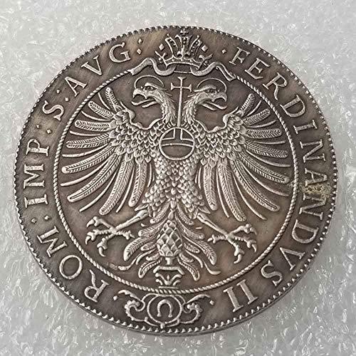 DDTing Antike Deutsche Morgan Silber-Dollars - 1624 Siebenbürgen/Rumänien Alte Münze zum Sammeln - Silber-Dollar Old Original Pre Morgan Dollar GoodService (Silber Morgan Dollar)