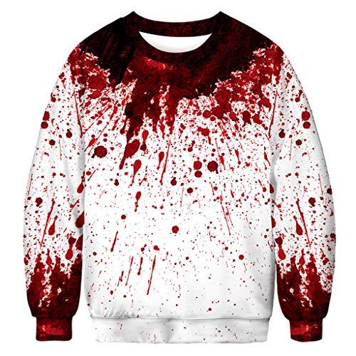 Halloween Sweatshirt Hoodie Herren Halloween Kostüm Horror,Männer Beiläufige Beängstigende Halloween 3D Druck Party Langarm Hoodie Top Bluse Kapuzenpullover - Beängstigende Kürbis Kostüm