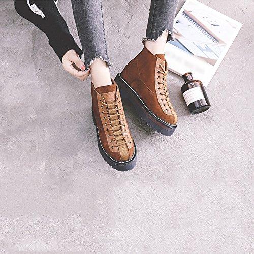 Liangjun Printemps Bottines Bottines Bottes D'hiver Femmes Sports De Plein Air Tourisme, 6 Taille, 2 Couleurs Disponibles (couleur: Noir, Dimensions: Eu39 = Uk6 = L: 245mm) Brun