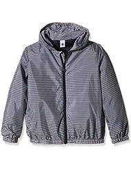 Petit Bateau Brume - Sweat-shirt à capuche - À rayures - Manches longues - Garçon