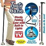 Bakaji Bastone Trusty Passeggio Cane Luce Led, pieghevole, batterie incluse.