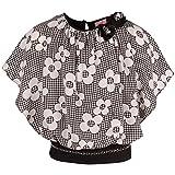 Cutecumber Girls Georgette Floral Black Sleeveless Top-(TP-CC662A-Black-16)