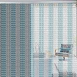 EBTOOLS 90 * 214.5cm Cadena Cortina de Metal de Aluminio Pantalla de la Puerta Decorativo Cortina a Prueba de Moscas Insectos de Cocina Tira de Decoración