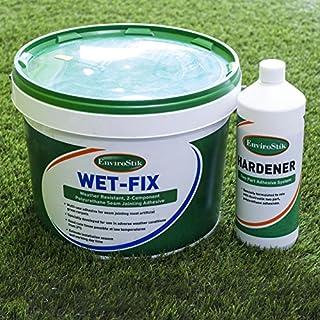 Artificial Grass WetFix Adhesive Glue 10kg Tub + 1KG Hardener | 20m Coverage | Fake Turf Astro
