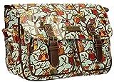 Swanky Owl Tree Print Satchel Bag Girls School Bag Womens Handbag - Blue