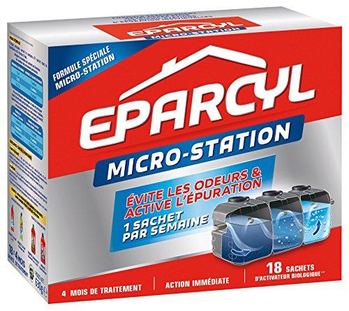 Eparcyl - Entretien Fosses Septiques - Micro-station Activateur Biologique Boîte de 18 Sachets