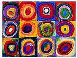 Migneco & Smith l'Affiche ILLUSTREE Kandinsky Farbstudie Quadrate Stampa Artistica in Offset su Carta gr.300 cm.60 x 80 cod.033262