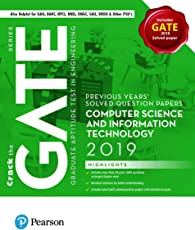 Previous Years' Solved Question Papers: GATE Computer Science and Information Technology, 2019 by Pearson