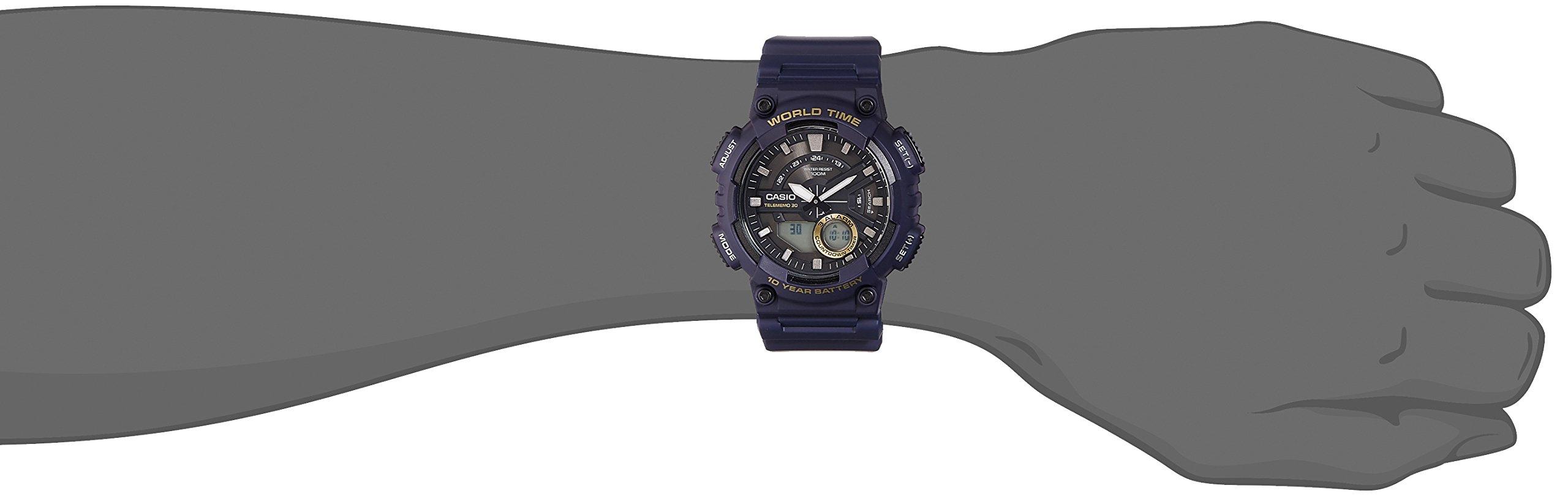Casio Youth-Combination Analog-Digital Black Dial Men's Watch – AEQ-110W-2AVDF (AD208)