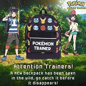 61ipP1n7OXL. SS300  - Mochila Pokemon Escolar Let's Go Pikachu Charmander Bulbasaur para Niños Niñas