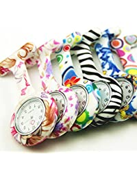 ShopyStore Multicolor New Nurse Watches Doctor Portable Pocket Fob Watch Brooches Silicone Tunic M