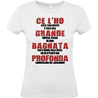 T-Shirt Maglietta Laureata - con Scritta Simpatica - Gadget per Festa di Laurea