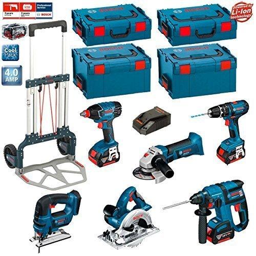 Preisvergleich Produktbild Bosch Kit PSL6M3A (GBH 18 V-EC + GKS 18 V-LI + GWS 18 V-LI + GDX 18 V-LI + GSB 18-2-LI + GST 18 V-LI + 3 x 4,0Ah Li-Ion + 2 L-Boxx 238 + 2 x L-Boxx 136 + Bosch Caddy)