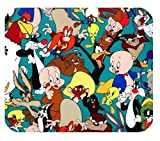 Warner Brothers Looney Tunes Cartoon Characters Customized Unique Rectangle Mousepad