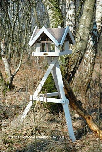 """Luxus-Vogelhaus 47880e Aufwendiges Vogelhaus im """"Antikfinish""""-Design (gescratcht) aus lasiertem Kiefernholz mit 4 Giebeln, braun/weiß - 5"""