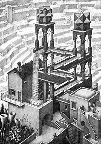 Escher 01 Poster Stampe cm. 50 x 70 papi arte moderna stampa da quadro dipinto falso d'autore vendita online