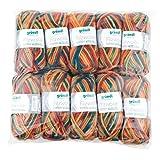 Gründl Color, Vorteilspack: 10 Knäuel à 50 g Filzwolle, Wolle, blaugrün-Ocker-rotorange Multicolor, 31 x 32 x 6 cm